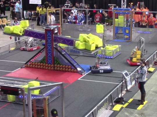 Team 56 from Bound Brook High School is one of eight Central Jersey robotics teams headed to the FIRST World Championships.