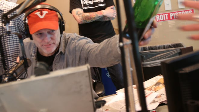 Drew Lane celebrates his last show at WRIF-FM on May 17, 2013.