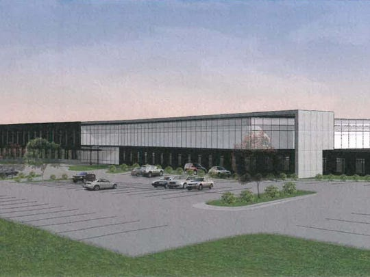 A rendering of the medical clinic planned by University