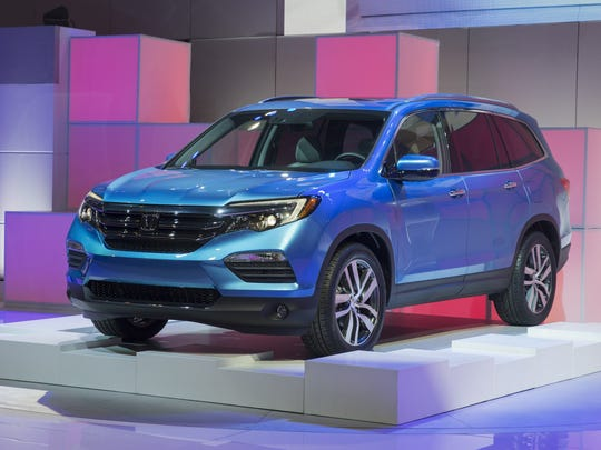 The 2016 Honda Pilot is unveiled during the Chicago Auto Show on Thursday, Feb. 12, 2015.