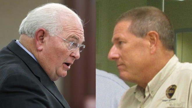 Sen. Bill Montford, left, and Leon County Commissioner Bryan Desloge.