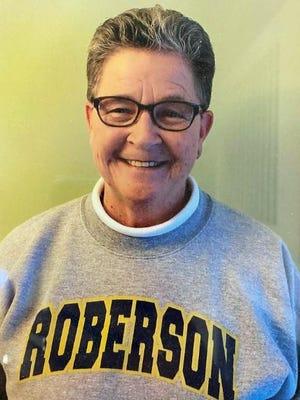 Linda Owenby, shown here in one of her favorite T.C. Roberson sweatshirts, passed away last week.