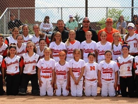 The Northville varsity girls softball team hosted the