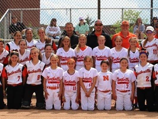 The Northville varsity girls softball team hosted the
