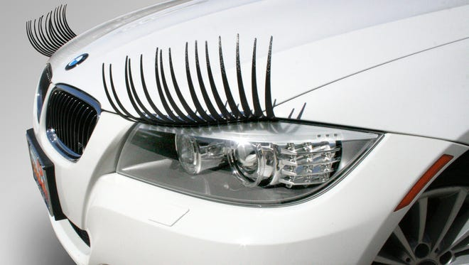 CarLashes are eyelashes for a car, like this BMW