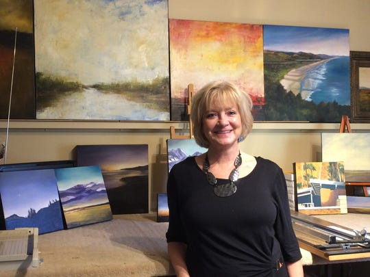 Painter Mandy Main is among nine artists opening their studios Saturday for the third annual Rancho Mirage Artists Studio Tour.