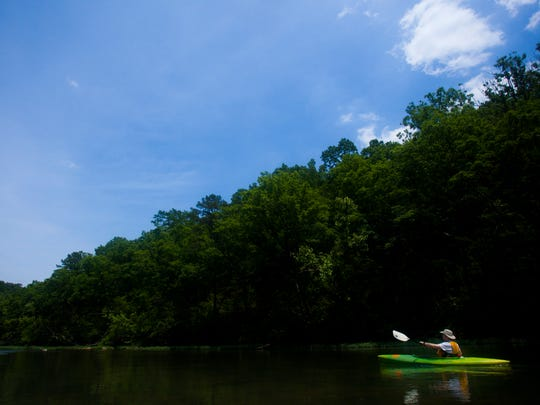 The Eleven Point River is just 2.5 hours east of Springfield and is spring fed making it floatable year round. The river is popular with anglers fishing for small mouth bass and goggle-eye.