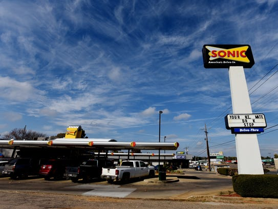 The Sonic in Springhill where Jaylen Thomas worked.