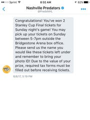 Predators fan Andrew Fudge missed an opportunity to