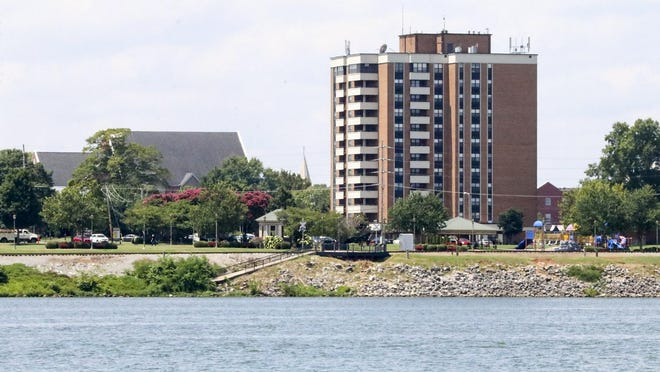 Jordan-Neill Apartments, one of two riverfront Decatur (Ala.) Housing Authority properties for low-income elderly tenants, as seen Friday, August 7, 2020. The buildings, next to Rhodes Ferry Park, have an almost exclusively white population, according to the U.S. Department of Housing and Urban Development.