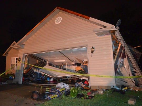 A swift moving storm blew through Indianapolis causing severe damage to homes, power lines and trees on the city's Southeastside.