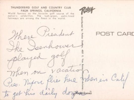 A Thunderbird postcard that was for sale on the website Ebay.