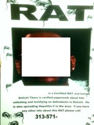 """FBI agents also found """"wanted"""" posters for snitches"""