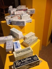 Butter packaging at The Butter Museum in Cork.