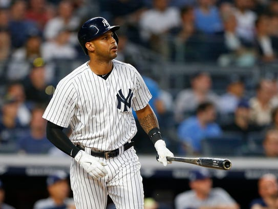 Jun 14, 2018; Bronx, NY, USA;  New York Yankees center