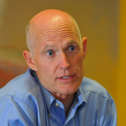 Gov. Rick Scott met with the editorial board of Florida Today.