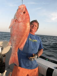 Chris Sessions caught this big red snapper while fishing