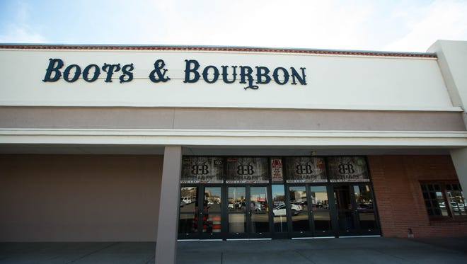 Boots and Bourbon is currently closed with signs on the doors stating the locks had been changed by the leasing company. Friday January 19, 2018.
