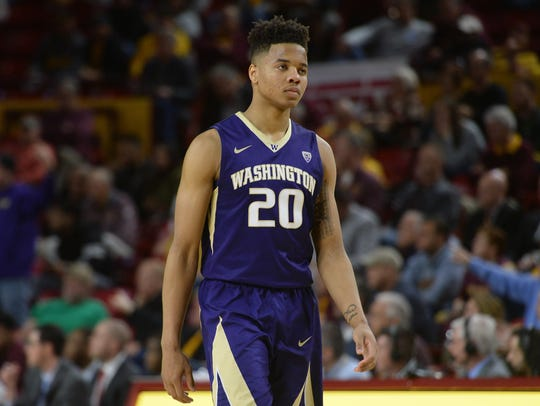 Markelle Fultz looks on in a January loss to ASU in