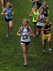 Granville's Jenna Unkefer races in the Division I state meet this past Saturday at National Trail Raceway.