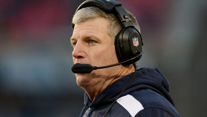 Mike Munchak, while he was the Tennessee Titans' head coach in December of 2013.