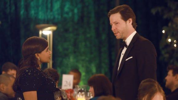 Mindy at Morgan's wedding.