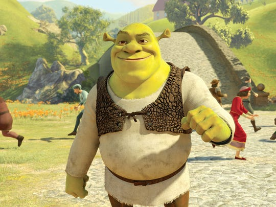 "Shrek, voiced by Mike Myers, is shown in a scene from ""Shrek Forever After."""