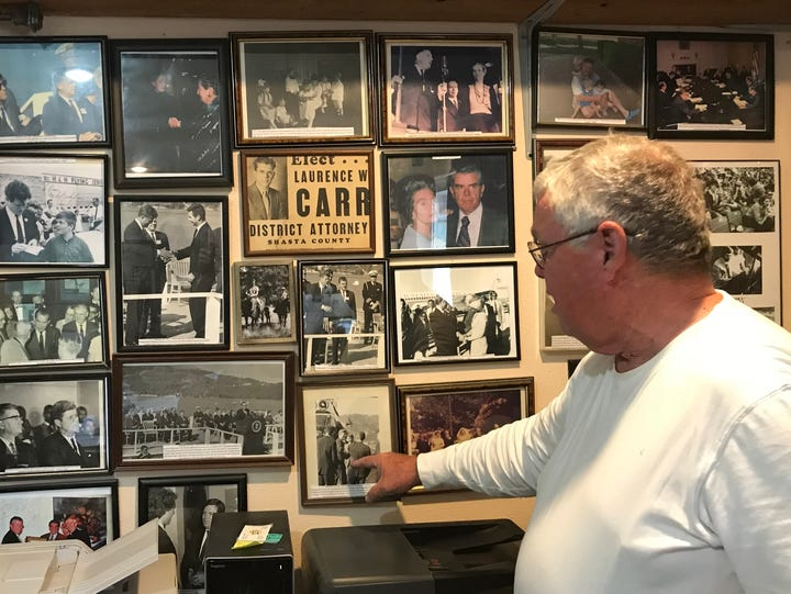 Patrick Carr of Cottonwood shows off photos of his