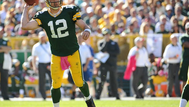 Packers quarterback Aaron Rodgers is looking to bounce back from an off day.