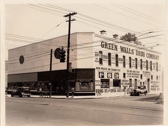 The Sun Furniture building, 1253 Texas Ave., housed the Green Walls Drug Company in the 1940s and 1950s.