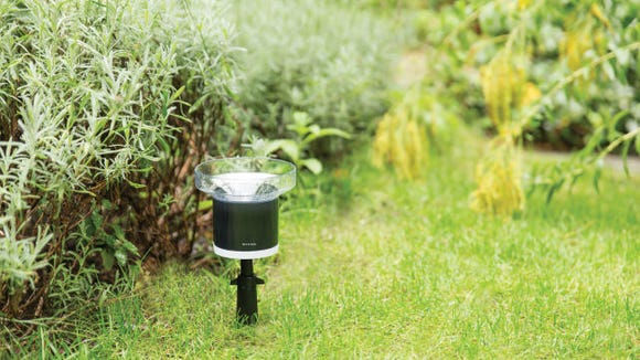 Measure rainfall to adjust your watering schedule.The Rain Gauge by Netatmo offers a cumulative rainfall total that you can access using a mobile app.