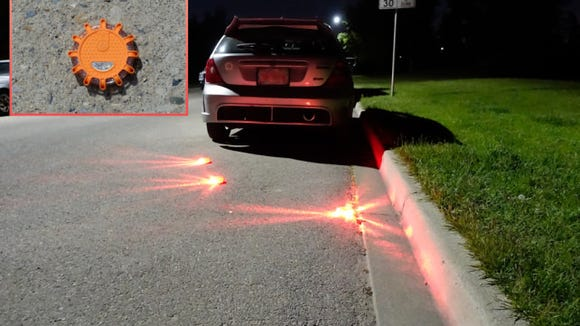 These LED flares help to create a safe area for you to work at the side of the road.