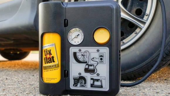 Seal and inflate a damaged tire without a jack? Yes please.