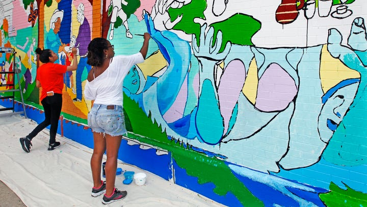 Better Angels: Tia Richardson's newest mural is one neighborhood's vision of better things to come