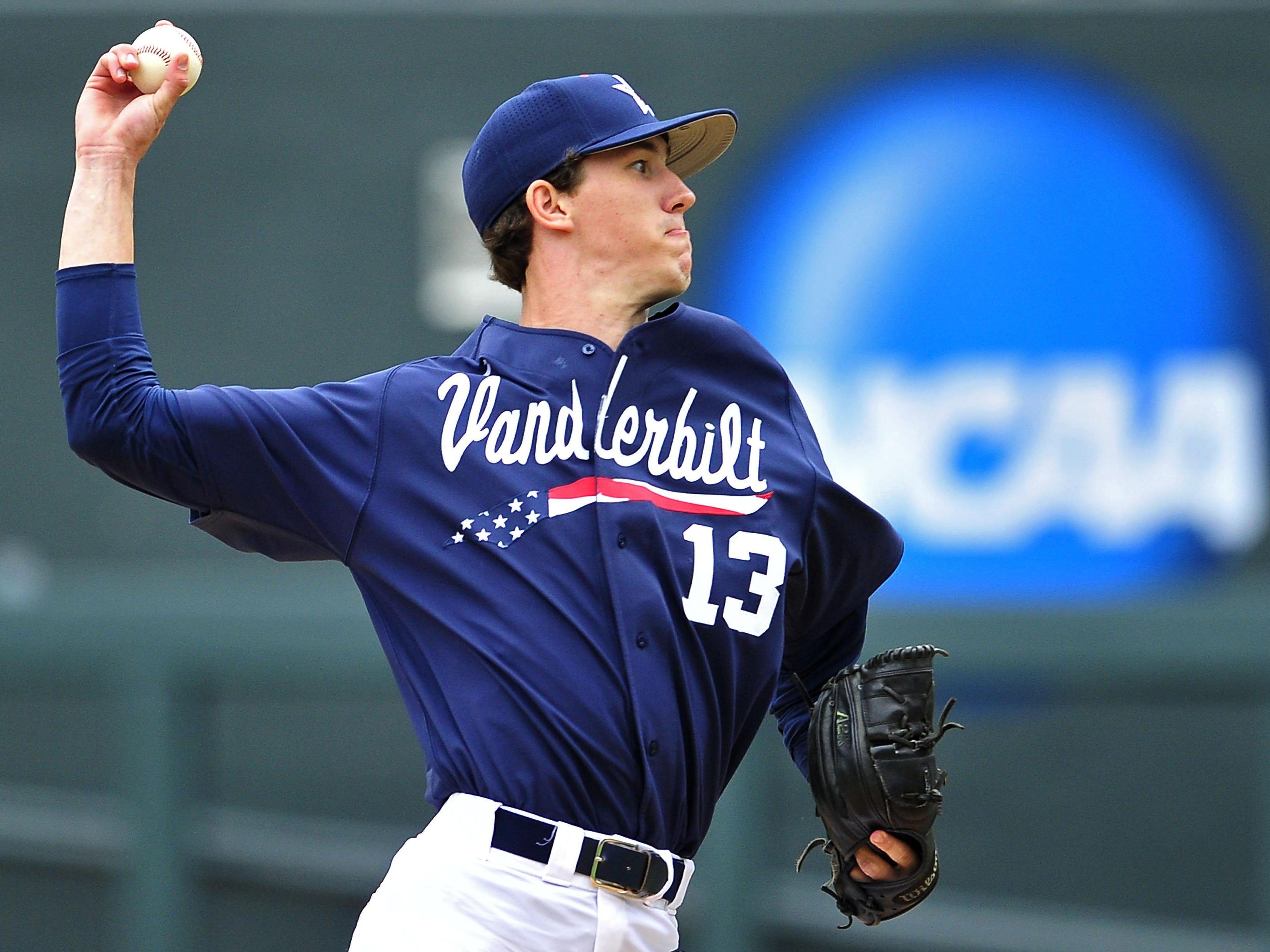 Vanderbilt pitcher Walker Buehler delivers a pitch against Radford last  week. 1dce8394392