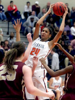 Blackman girls beat Riverdale, at Blackman, 51-48, on Tuesday, Dec. 8, 2015.