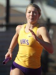 Indianola's Leah Blake competes in the 800-meter sprint medley. The Simpson College High School Classic was held March 26 in Indianola.