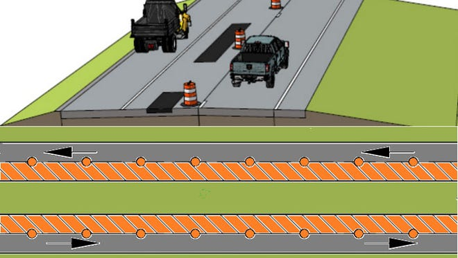 Road construction on Ind. 3 will include partial-depth and full-depth pavement repairs and a thin concrete pavement overlay.