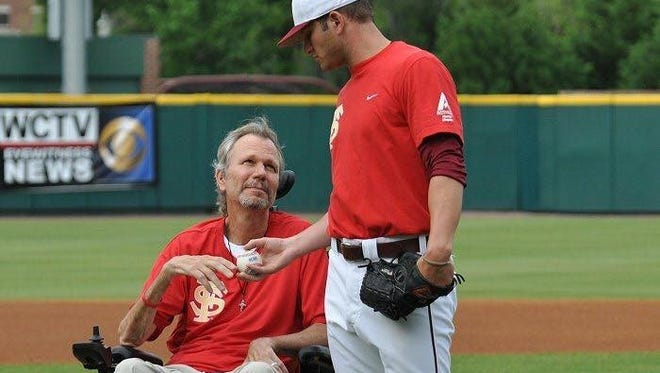 Tyler Everett with his dad, Jimmy, who lost his battle to ALS