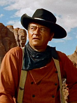 "John Wayne, seen in ""The Searchers,"" was born on May 26, 1907."