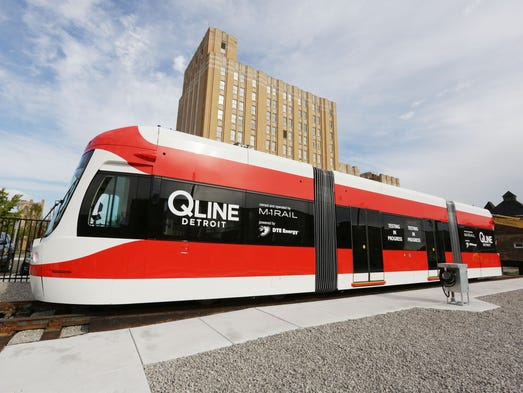 One of the QLINE streetcars that will hit the streets