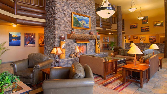 The lobby at The Grand Hotel at the Grand Canyon.