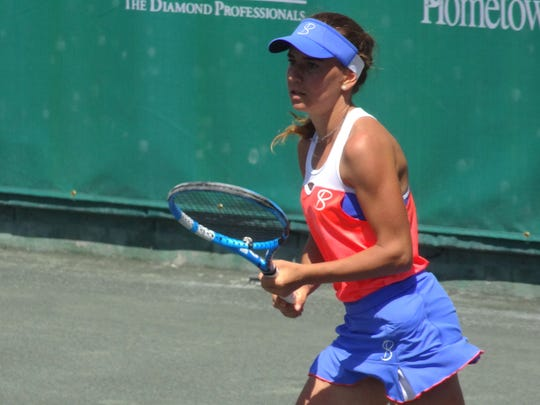 Irina Maria Bara during her semifinals match against Taylor Townsend, Saturday.