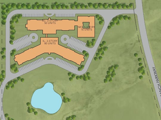 A graphic showing layout of O'Reilly Development's