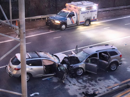 6:38 a.m. A wrong-way crash has shut the northbound Bronx River Parkway in Yonkers between the Cross County and Sprain Brook parkways on Friday, Feb. 9, 2018.