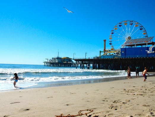 Santa Monica's iconic pier is a 100-year-old landmark,