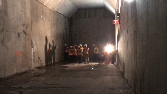 Part of a $235-million, 1,000-foot-long Amtrak connector to  the future Gateway Hudson River tunnel.