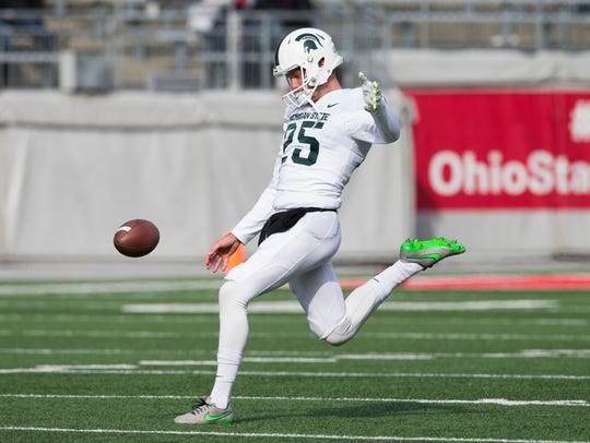 Nov 11, 2017; Columbus, OH, USA; Michigan State punter