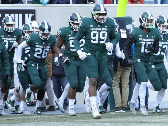 The Michigan State Spartans, led by Raequan Williams