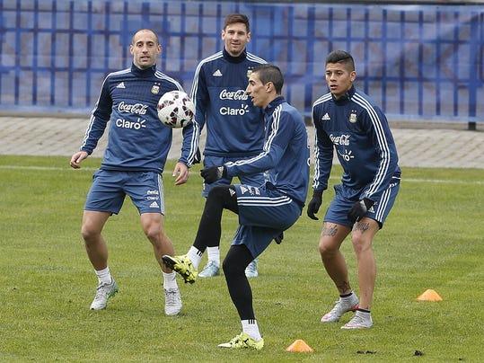 Pablo Zabaleta, Lionel Messi, Angel Di Maria, Marcos Rojo